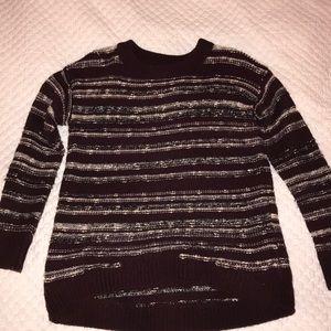 Calvin Klein maroon striped sweater